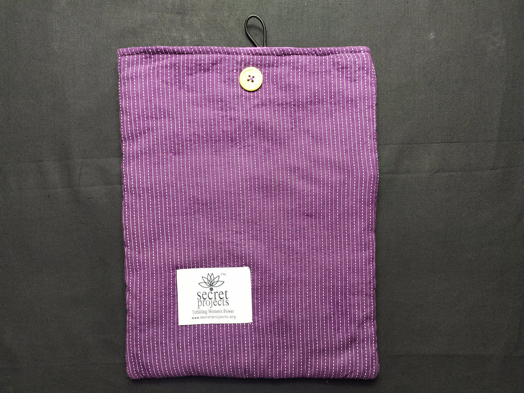 Violet White Line Laptop Case