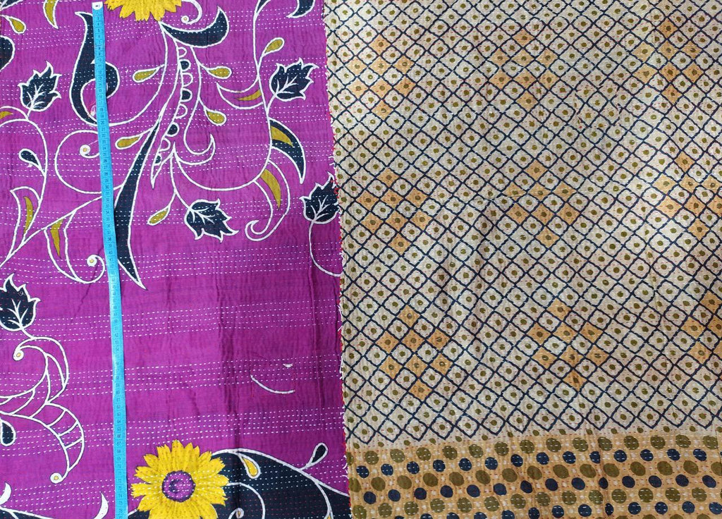 Sunflower Kantha Blanket (single)