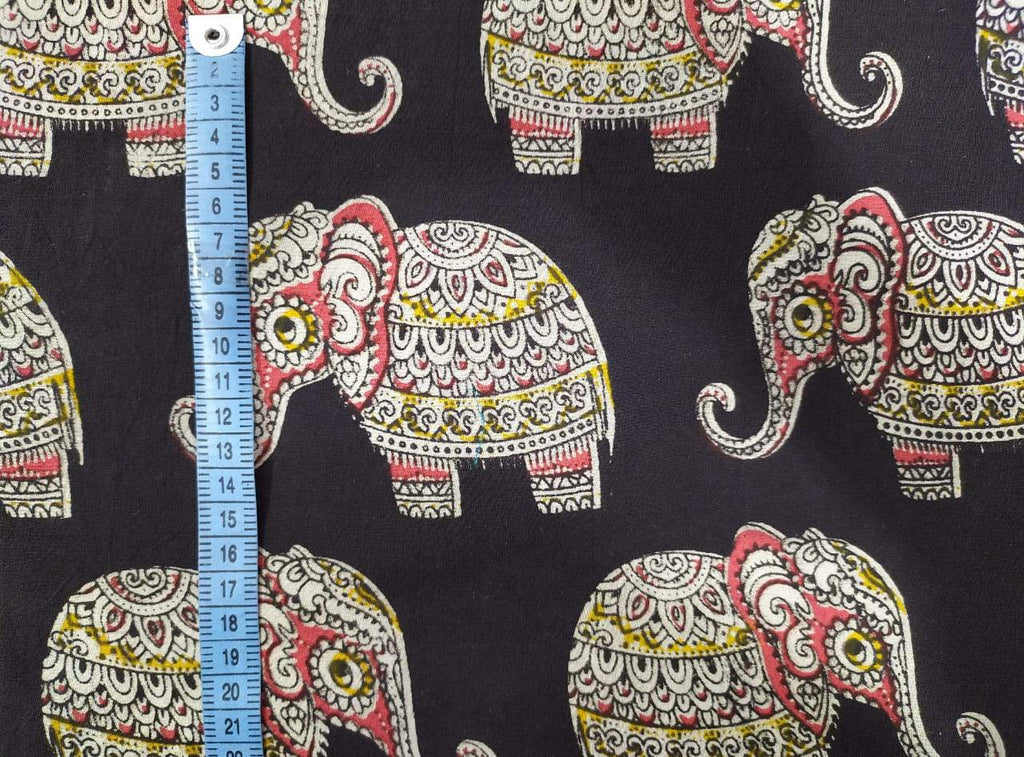 Baby Elephant Black Fabric