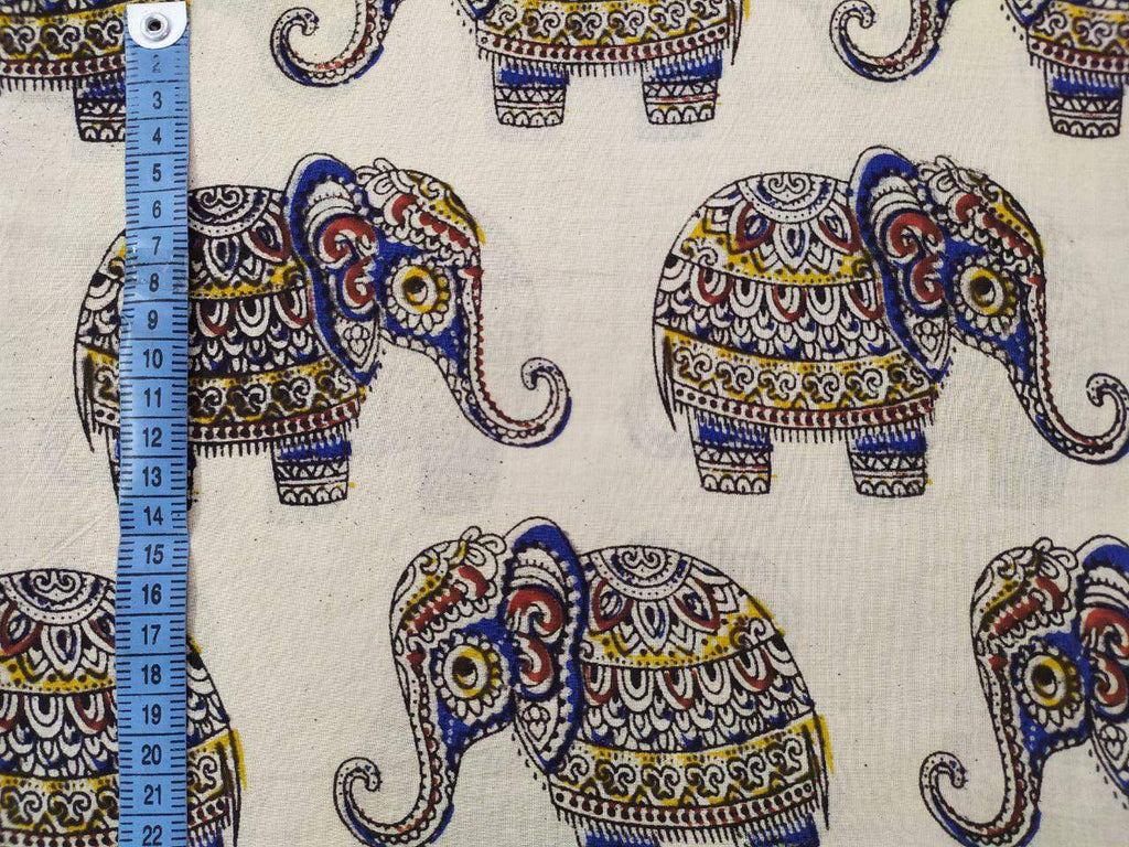 Baby Elephant Cream Fabric