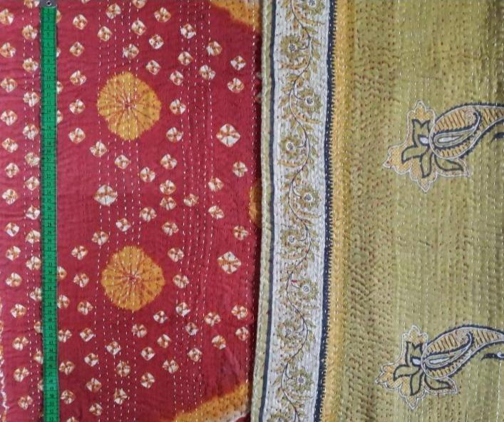 Red hill Kantha Blanket (single)