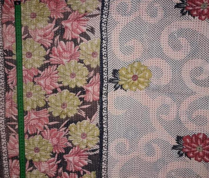 Flower buke Kantha Blanket (single)