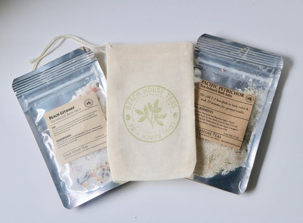 Tea-Infused Bath Salts Gift Set
