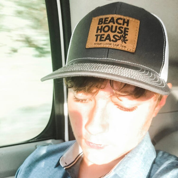 Beach House Teas Leather Patch Hat