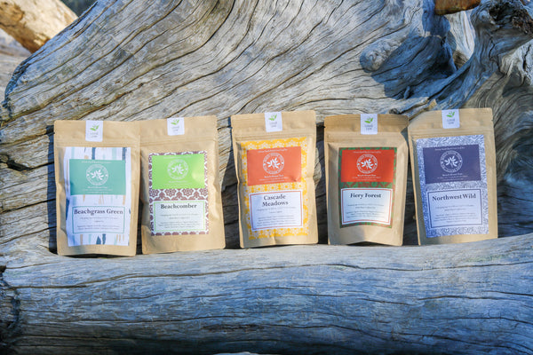 Pick three 2 oz POUCHES of artisan loose leaf teas