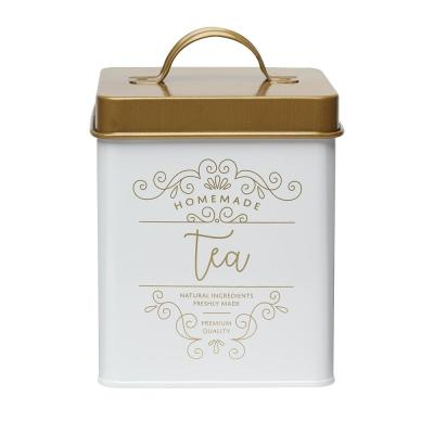 Gold & White Tea Canister