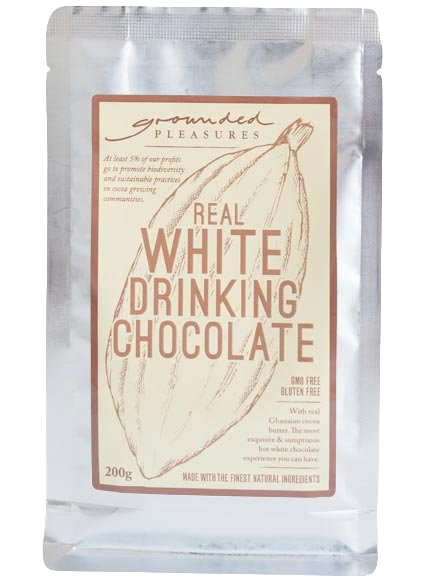 Real White Drinking Chocolate by Grounded Pleasures 200g - Wild Timor Coffee Co.