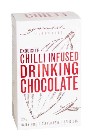 Chilli Infused Drinking Chocolate by Grounded Pleasures 200g