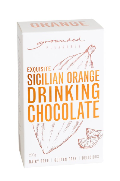 Sicilian Orange Drinking Chocolate by Grounded Pleasures 200g