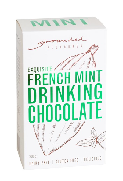 French Mint Drinking Chocolate by Grounded Pleasures 200g
