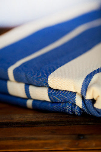 Blue & Natural Stripes