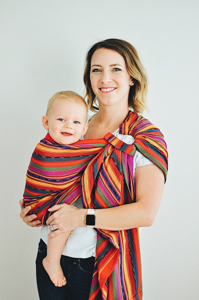 Maya Wrap Bright Stripes ComfortFit Ring Sling