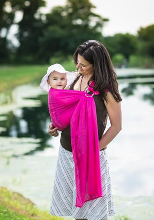 Fuchsia Mesh Water Ring Sling