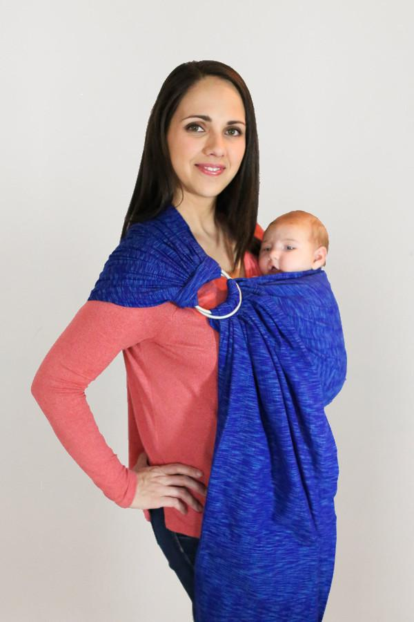 Maya Wrap Blue Waves ComfortFit Ring Sling