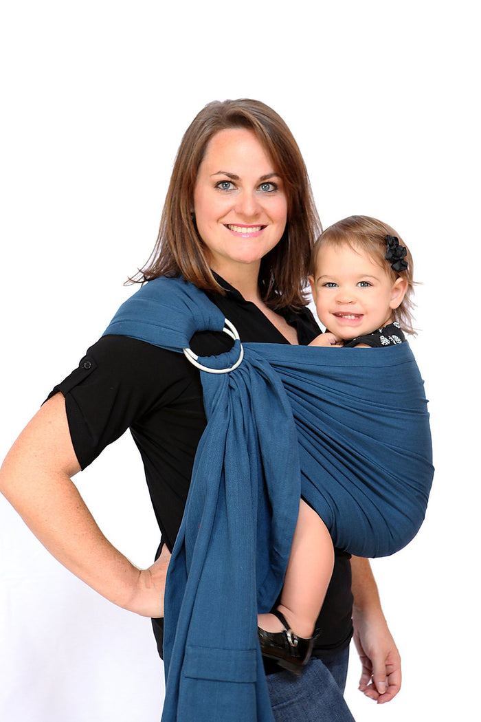 Maya Wrap Twilight Blue Lightly Padded Ring Sling