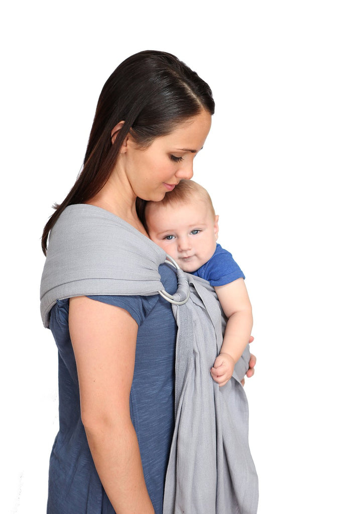 Maya Wrap Slate Lightly Padded Ring Sling