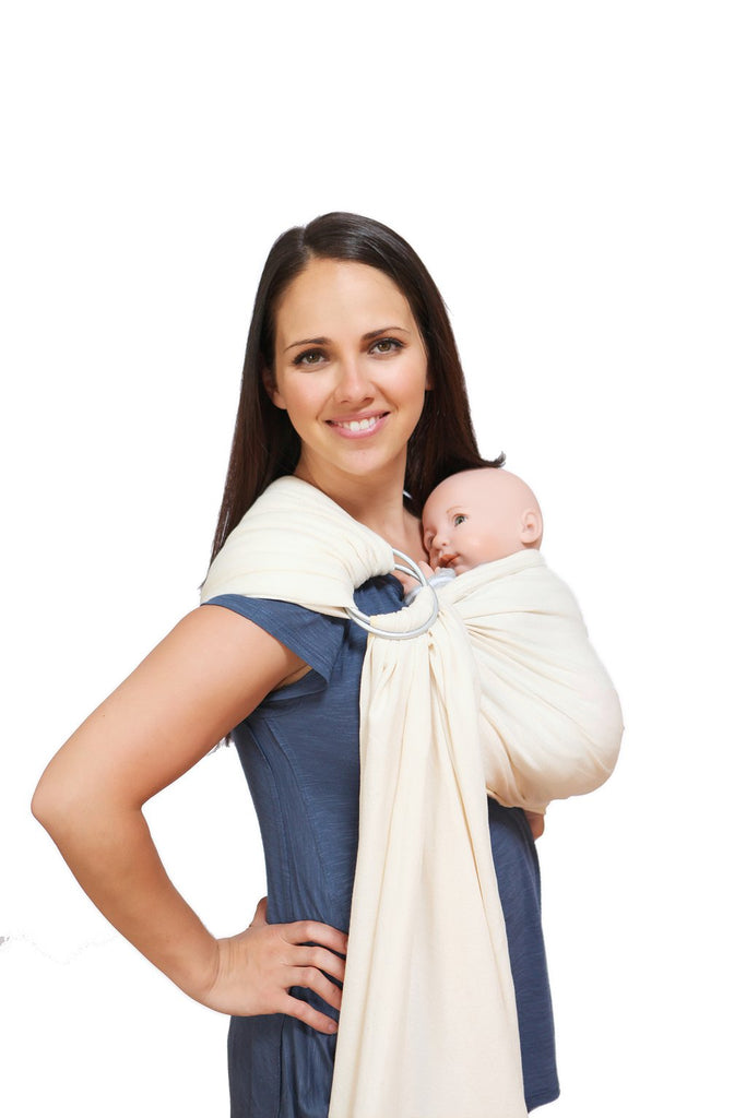 Maya Wrap Natural Lightly Padded Ring Sling