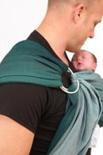 Maya Wrap Green Ombré Lightly Padded Ring Sling