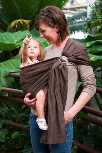 Rio Ring sling, Chocolate Linen