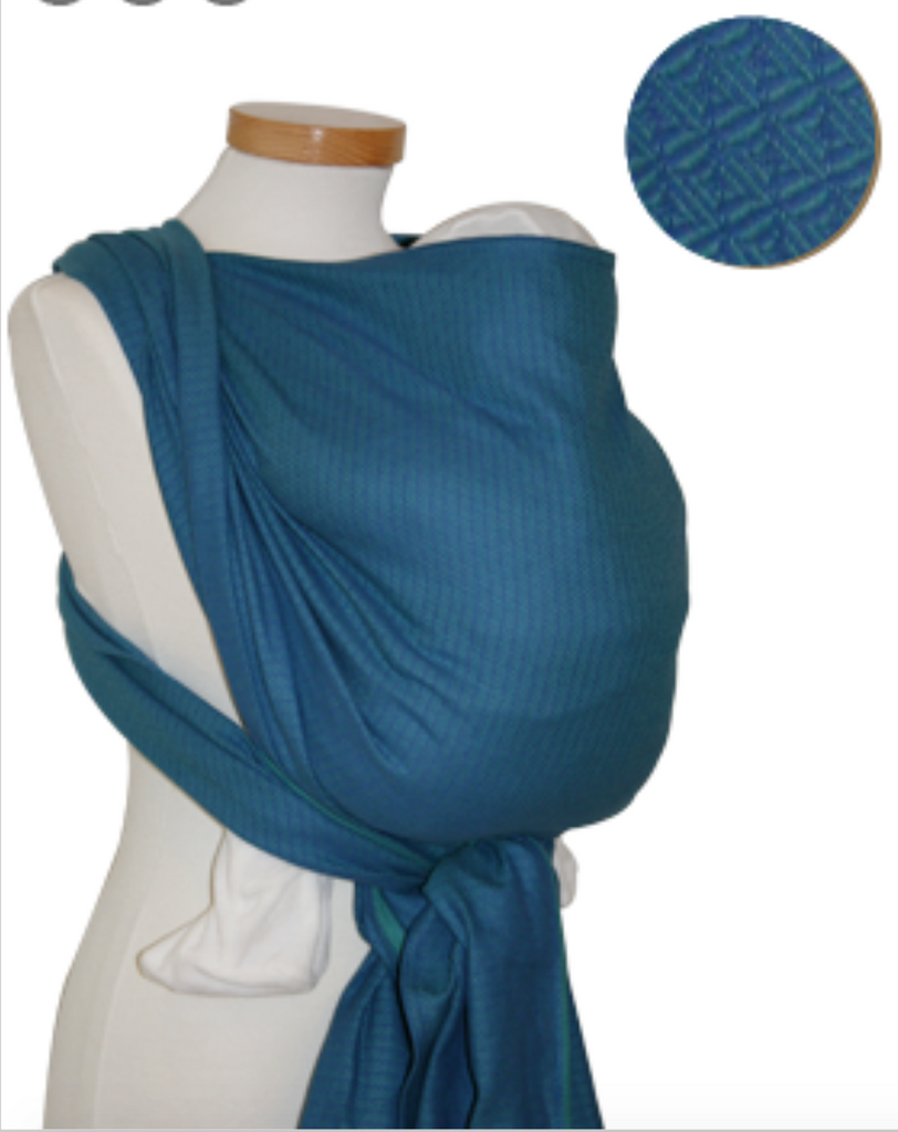 Storchenwiege Leo Turquoise Woven Wrap
