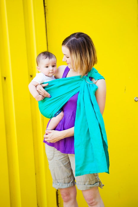 Comfy Joey Sullivans Bay Sea-Green Linen Ring Sling