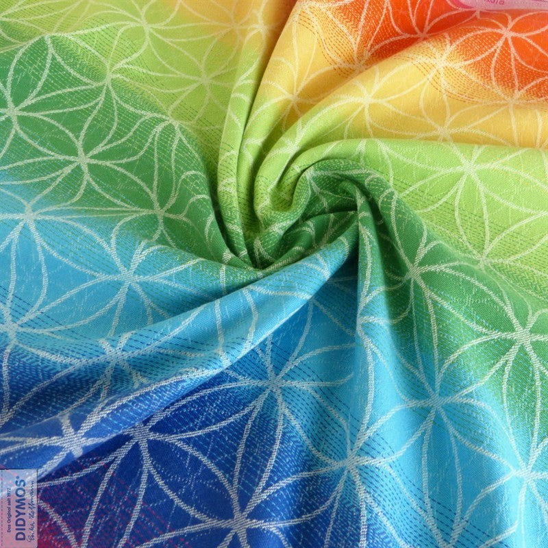 DIDYMOS Flower of Life Rainbow Organic Cotton Woven Wrap