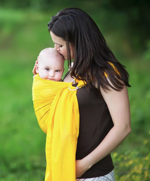 Gold Mesh Water Ring Sling