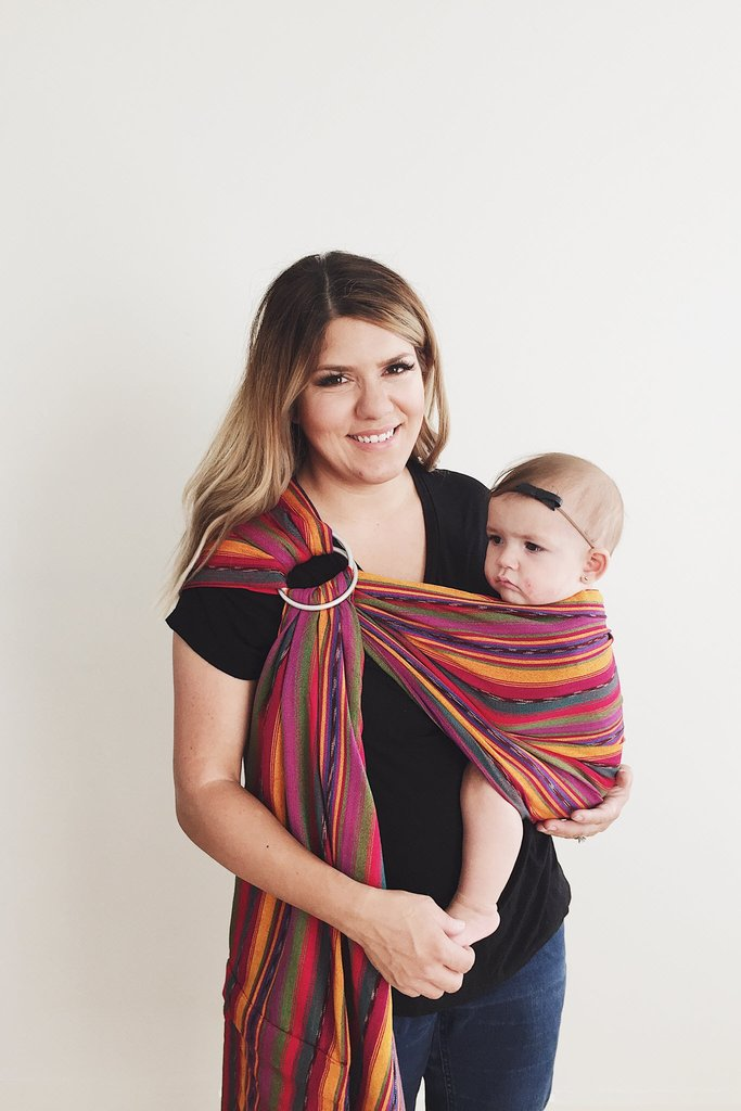 Maya Wrap Bright Stripe Lightly Padded Ring Sling