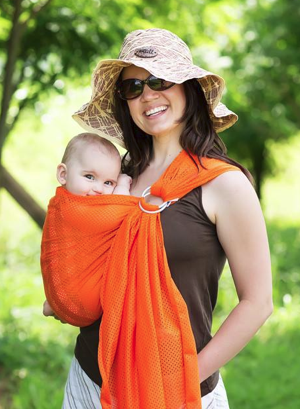 Orange Mesh Water Ring Sling