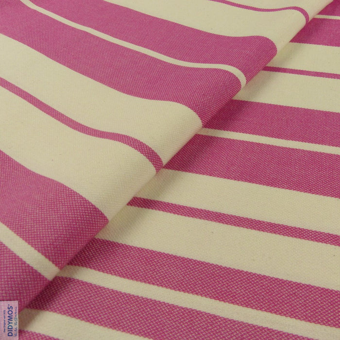 Raspberry and Natural Stripes