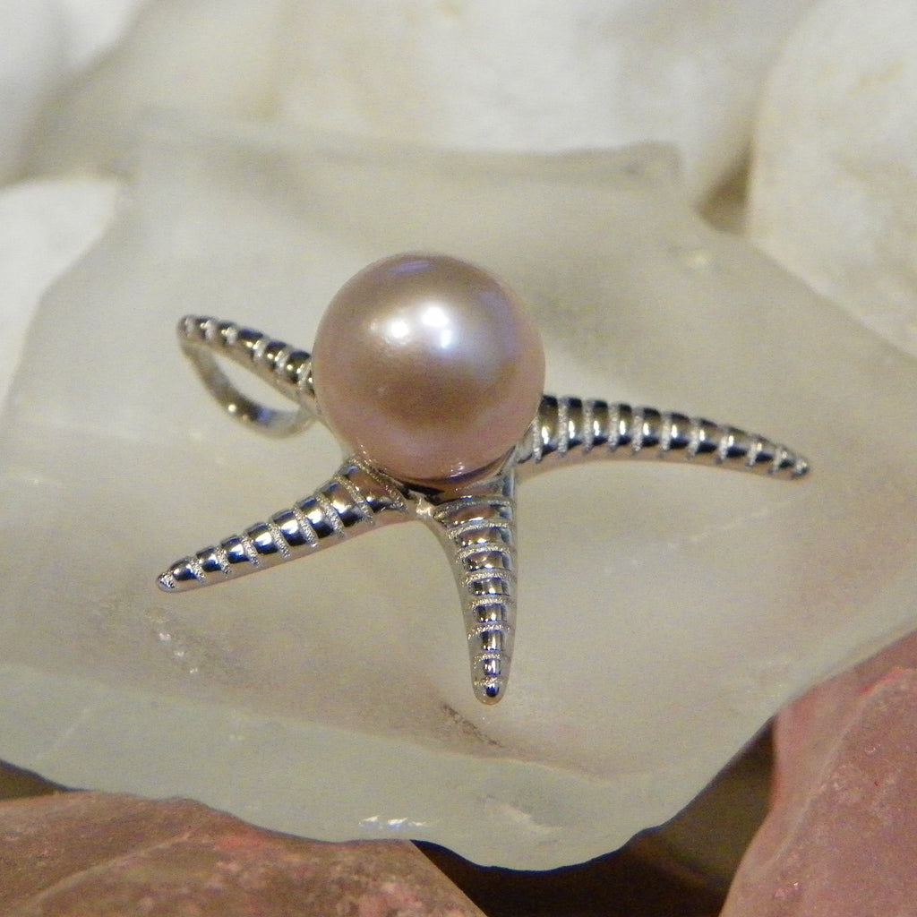 Starfish Pendant Pearl mount in Sterling Silver - FREE pearl mounting! #849