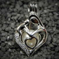 Hand over Heart Pearl Cage - Sterling Silver #159