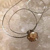 Pendant - Shell Pearl mount in Sterling Silver - FREE pearl mounting!