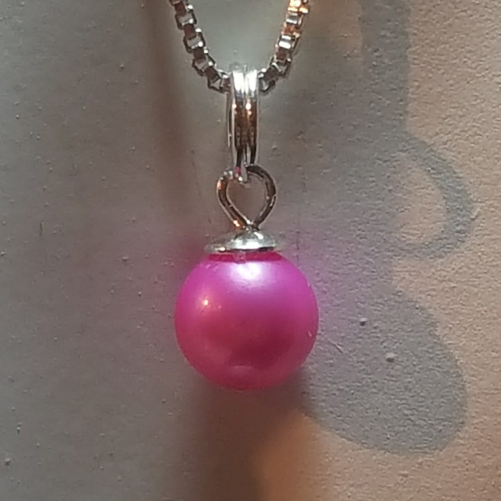 Pendant pearl mounting in Sterling Silver - FREE pearl mounting! #844