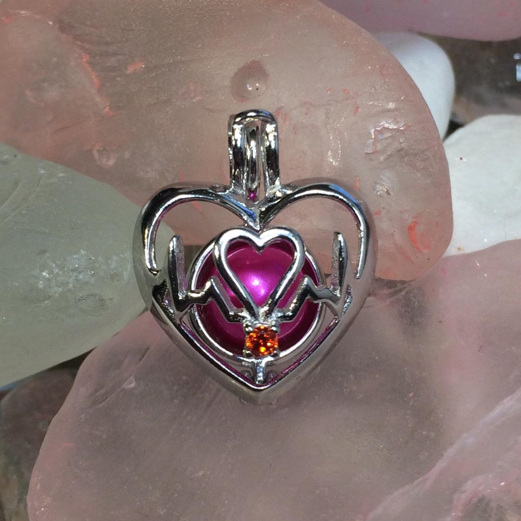 Lifeline Heart Pearl Cage #113 - Sterling Silver