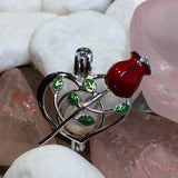 Rose Heart Pearl Cage - Sterling Silver #112