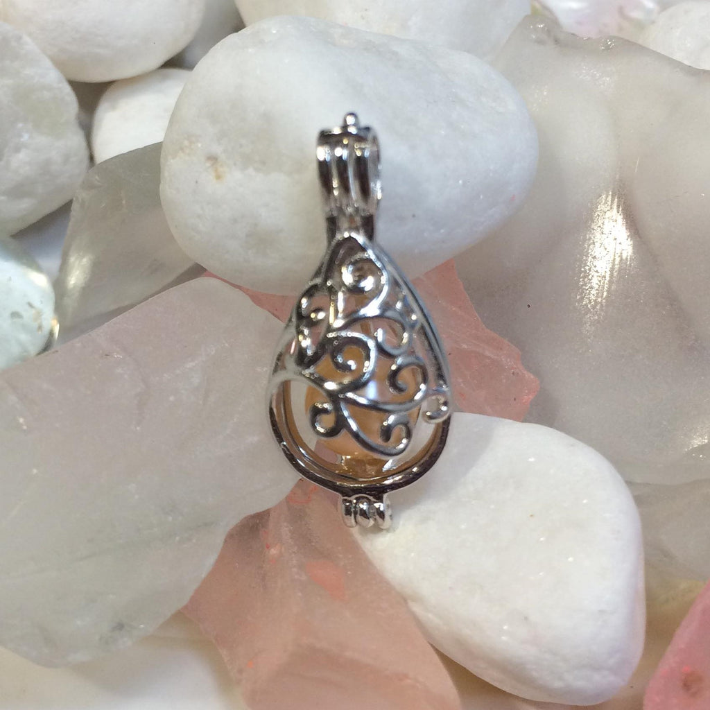 Filigree Egg Pearl Cage - Sterling Silver #089
