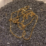 "Gold Tone ""Cable-Link"" Chain 24"" Length #218"