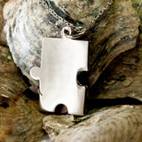 Autism Support Stainless Steel Puzzle Piece #203