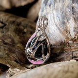 Pretty in Pink Pearl Cage - Sterling Silver #096