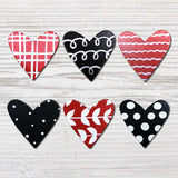 ROEDA - Heart with Pattern Set of 6 Magnets - R523