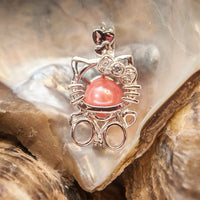Kitty Pearl Cage - Sterling Silver #049