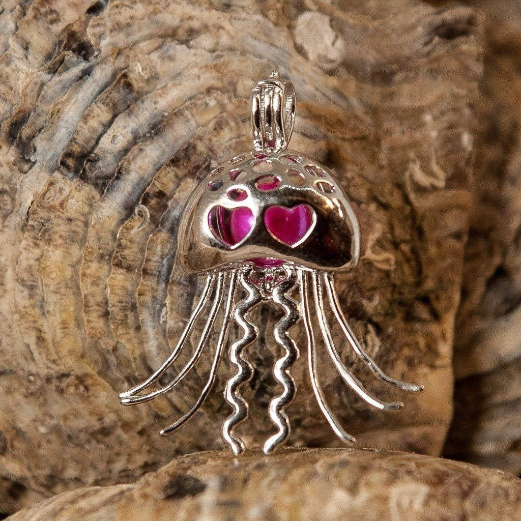 Jelly Fish Pearl Cage - Sterling Silver #116