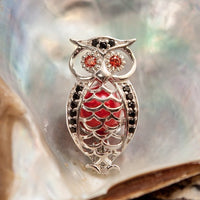 Fancy Owl Pearl Cage - Sterling Silver #002