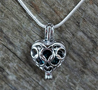 Heart Cage - Silver #010