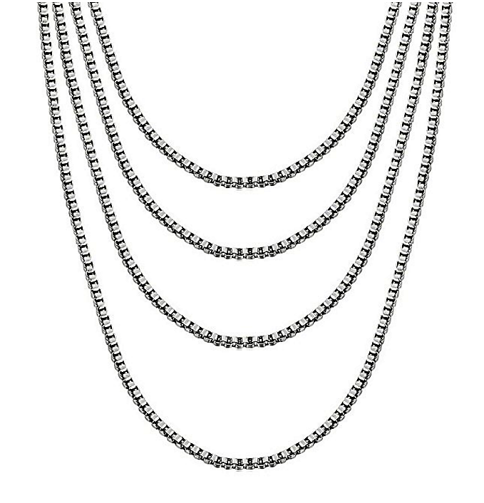 Chain - Stainless Steel Box chain in 1MM