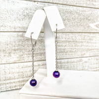 Earring: Single Dangle Leaverback in Sterling Silver - FREE Pearl Mounting! - #889