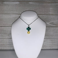 Shamrock Pendant in Sterling Silver - FREE pearl mounting! - #881