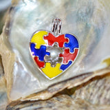 Autism Love Pearl Cage - Sterling Silver #136