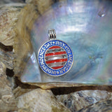 4th of July Pearl Cage - Sterling Silver  #162
